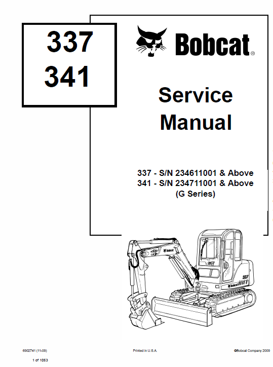 Bobcat 337 And 341 Excavator Schematics Operating Service Manual: Bobcat 5610 Joystick Wire Diagram At Johnprice.co