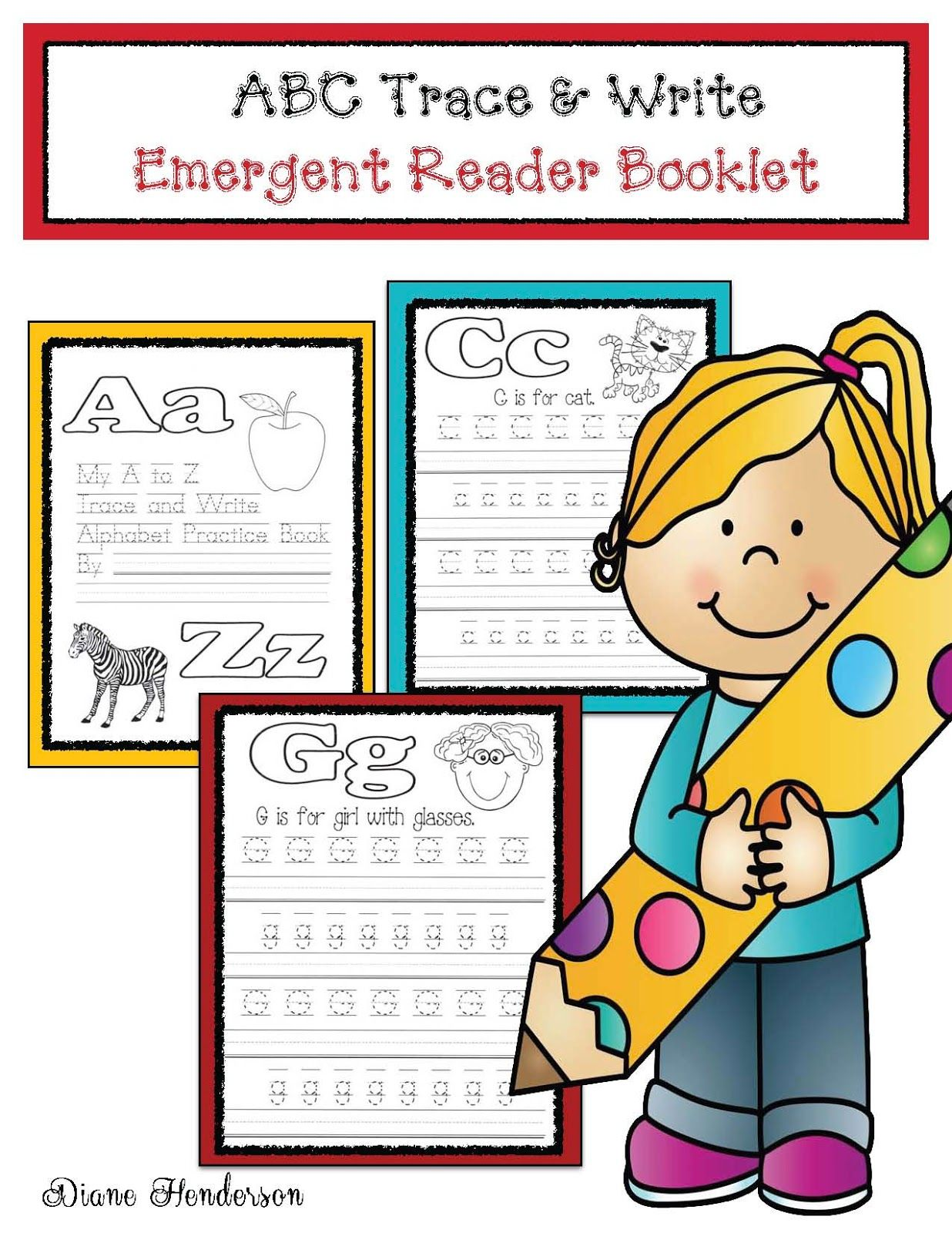 Abc Trace Amp Write Emergent Reader Booklet