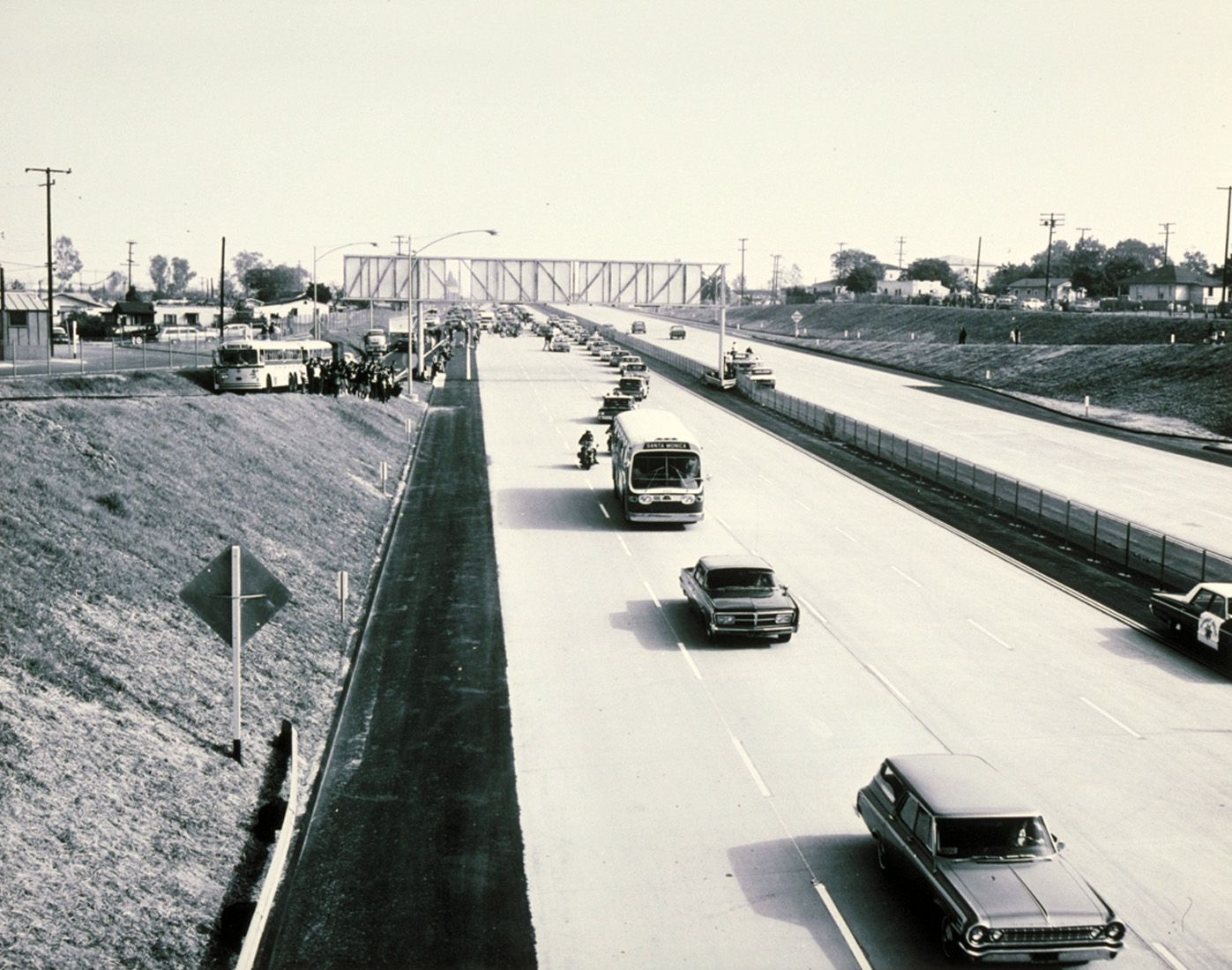 Creating The Santa Monica Freeway Santa Monica Places In California Los Angeles Area