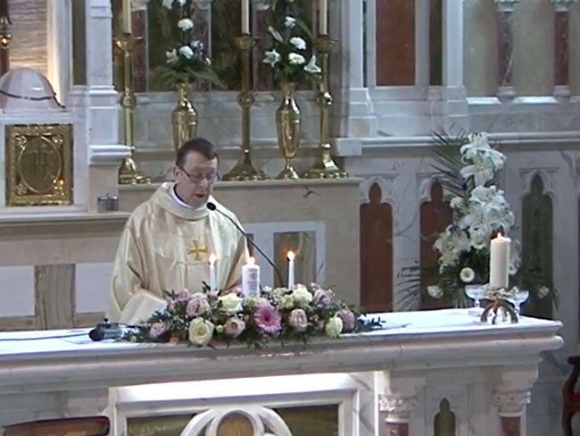 Catholic Wedding Ceremony But The Priest Is Terrific And Very Cheeky Uniqueweddingceremonies
