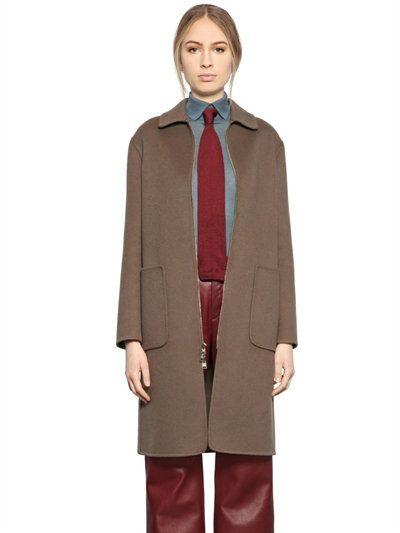 LARUSMIANI ZIP-UP CASHMERE COAT, BROWN. #larusmiani #cloth #coats