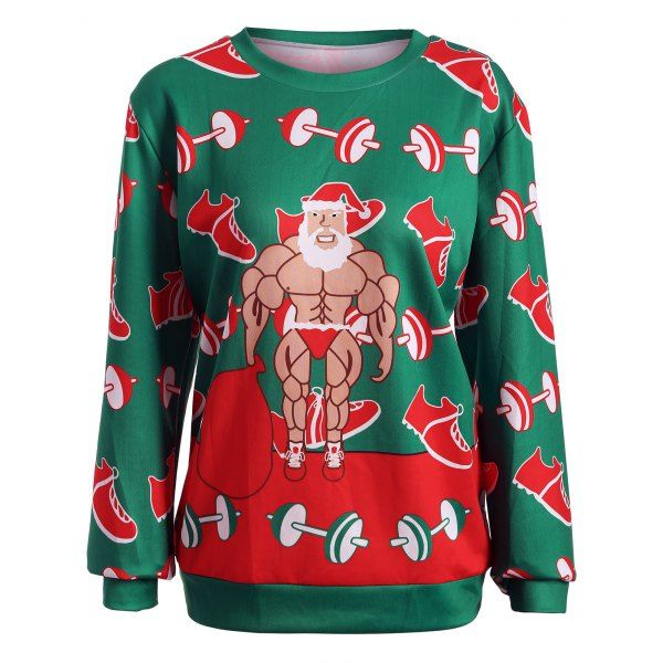 Christmas Santa Graphic Sweatshirt | TwinkleDeals.com