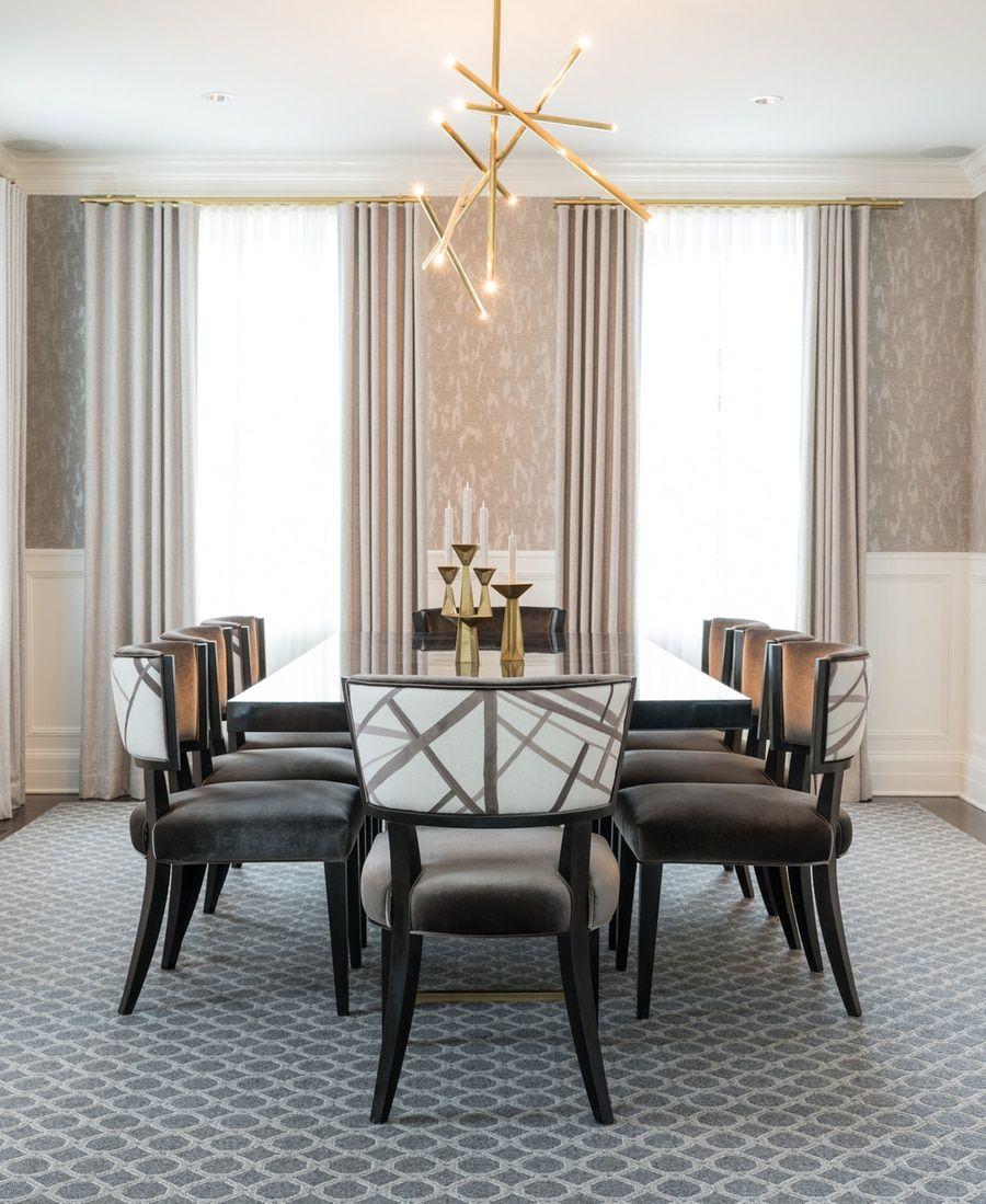 Dining Room Projects By Kelly Wearstler: Kelly Wearstler Channels Custom Drapes