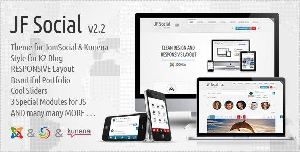 Deals JF Social - Joomla JomSocial Kunena Templateso please read the