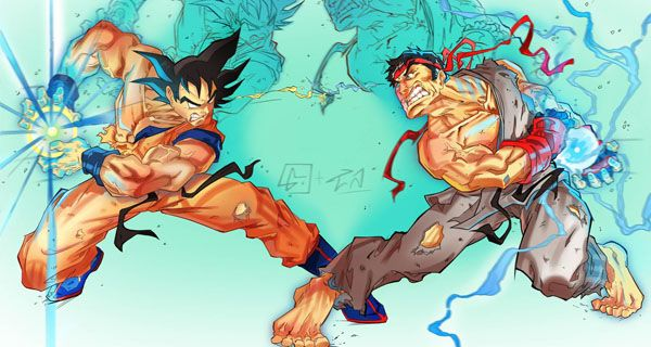 Goku vs Street Fighter   Dragon ball SS8   Pinterest   Goku vs     Goku vs Street Fighter