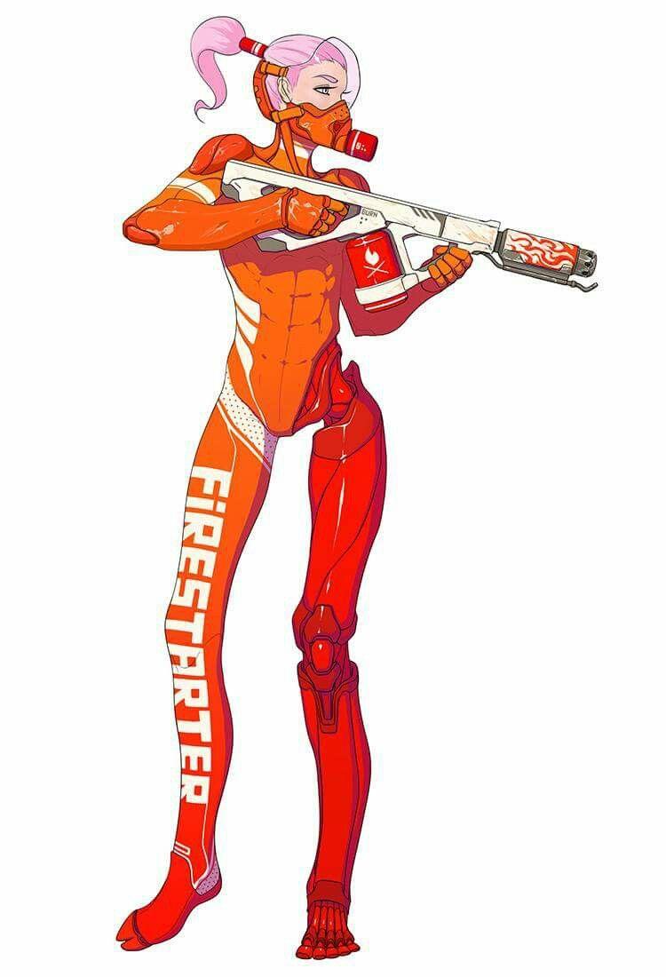 Idea by Jake Parker on Mechs   Cyberpunk character ...