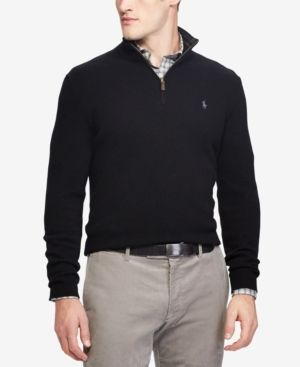 Cashmere Men's Macy'sProducts Half SweaterCreated Blend For Zip 8wkO0XnP