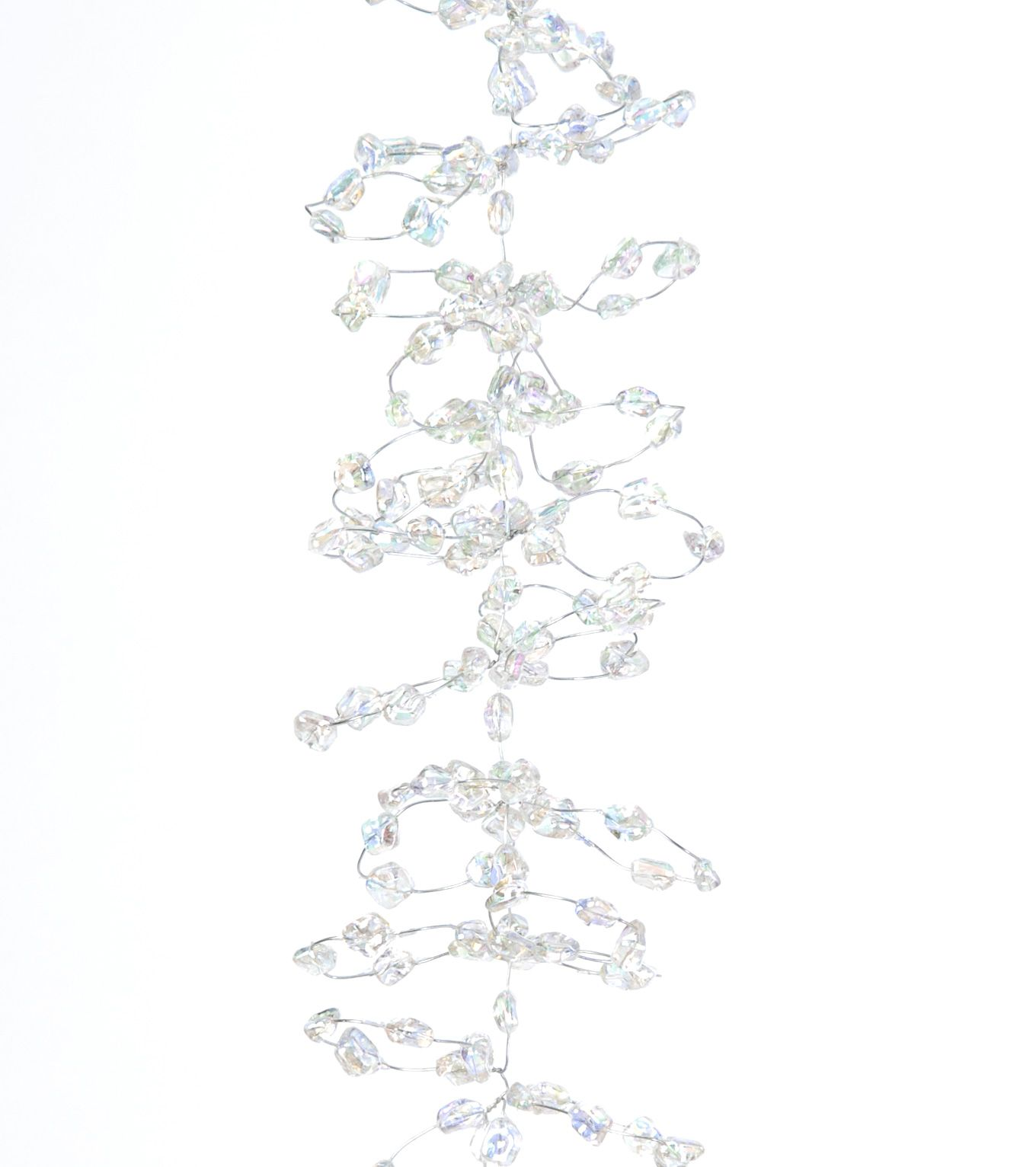 Ice crystal garland    Iridescent crystals on wire    Length 1.5m