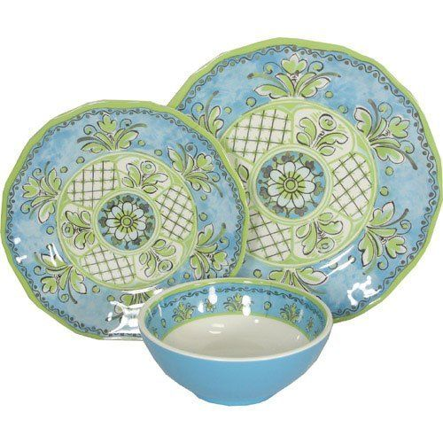 Le Cadeaux Benidorm Blue Melamine Dinnerware Place Setting by Le Cadeaux. $39.99. Not  sc 1 st  Pinterest & Le Cadeaux Benidorm Blue Melamine Dinnerware Place Setting by Le ...