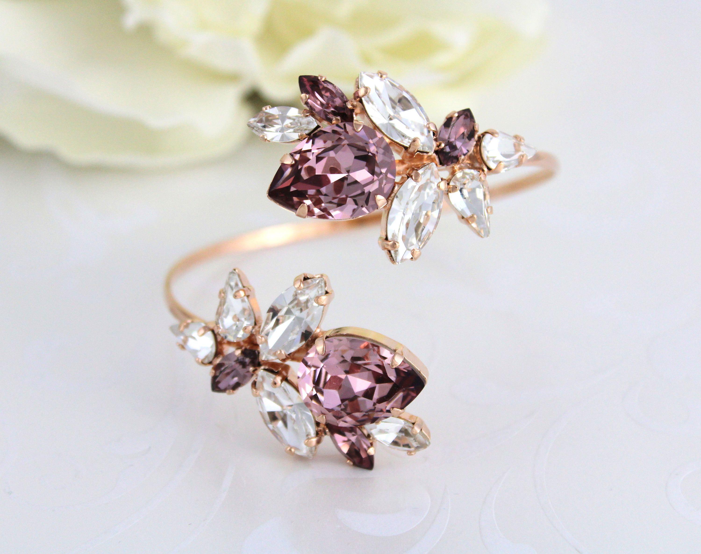 Rose gold bracelet bridal bracelet bridal jewelry cuff bracelet
