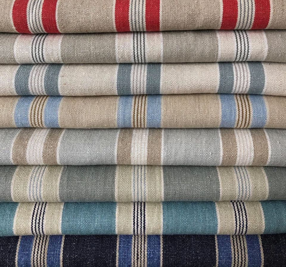 Rogers & Goffigon, well-known for its beautiful striped fabrics, is pleased to announce the introduction of Liguria, a lovely stripe in a stunning palette of signature colors. Liguria, suitable for light #upholstery, #slipcovers, #draperies and #accessories & is a perfect accent in any #interior. #primaverainteriorfurnishings #rogersandgoffigon  #upholsteryfabric #residentialdesigner #torontodecorator #torontointeriordesigners #homeinteriors #interiordecorator #interiordesign #homedecor #fabric