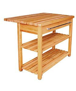 Contemporary Harvest Table With Drop Leaf. Butcher Block ...