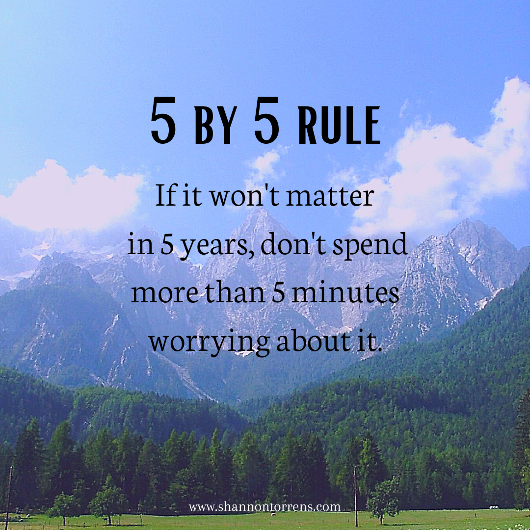 The Five By Five Rule