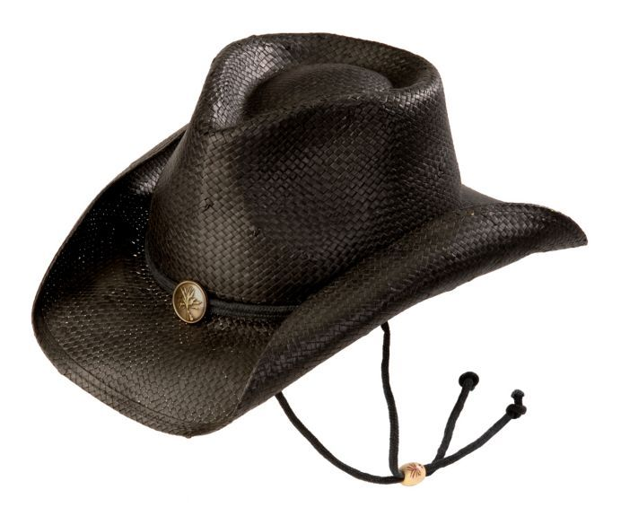 Kenny Chesney Black Weaved Straw with Drawstring Cowboy Hat available at   Sheplers 2b1ba27ad6e8