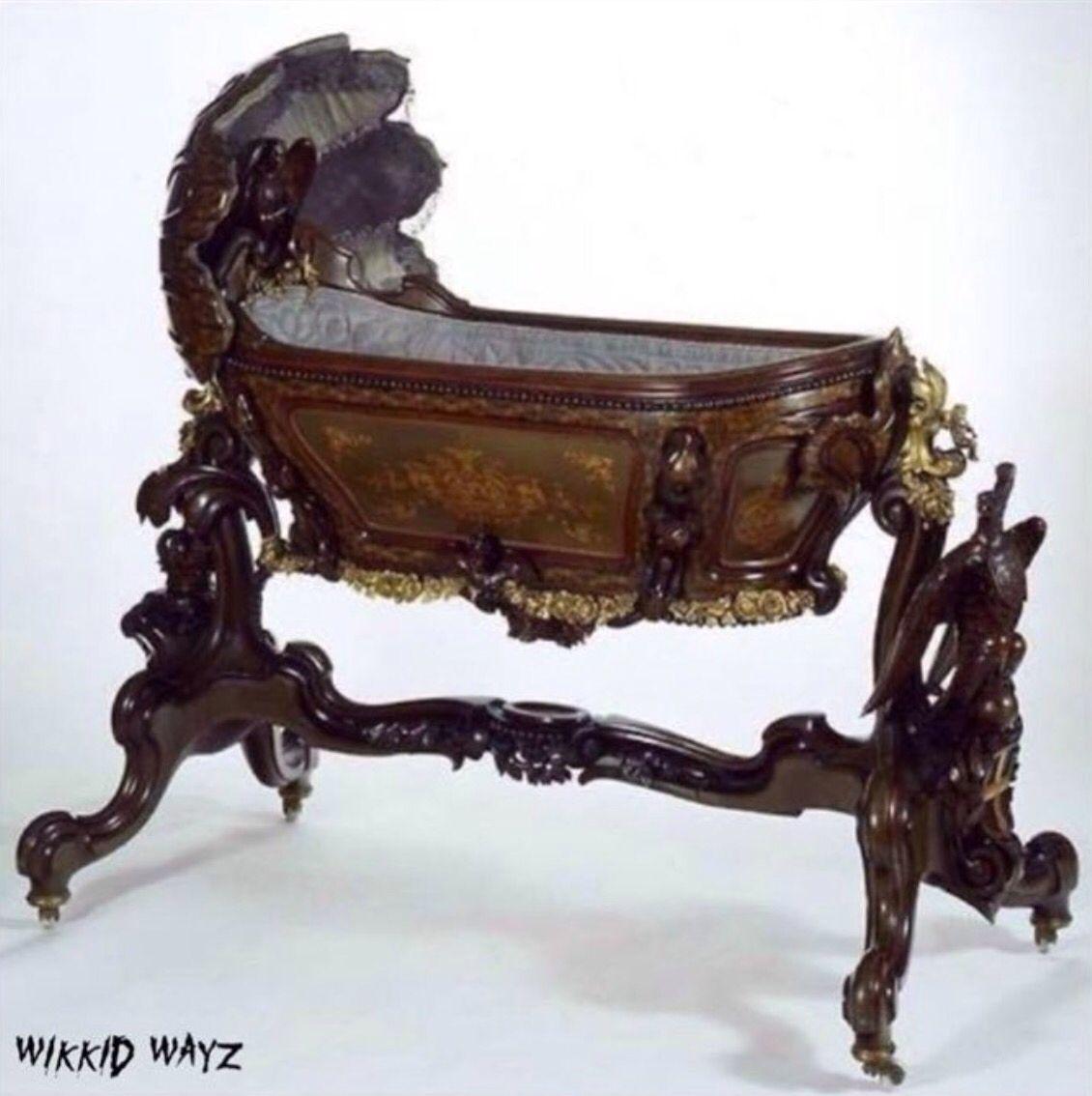 Gothic Victorian Furniture gothic cradle | furniture | pinterest