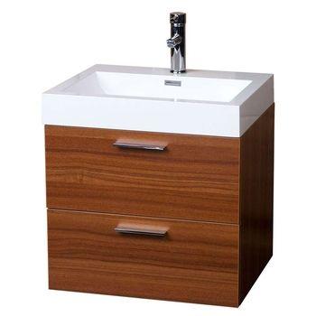 Modern Floating Bathroom Vanity  Teak Two Drawers Free Shipping TN-T580-TK  on Conceptbaths.com  22.75 x 18.25