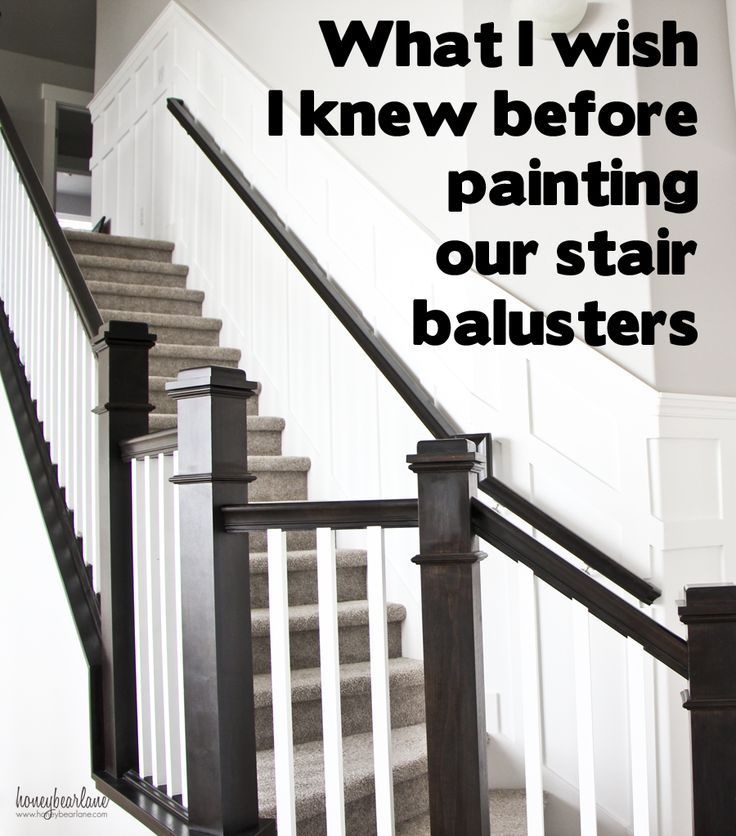 Tips For Painting Stair Balusters   Paint Stairs, Banisters And Wood  Projects