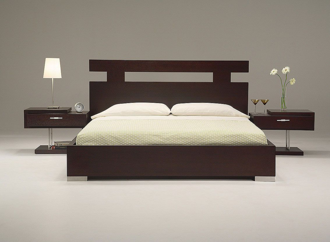 Modern bedroom set contemporary bed suites bedrooms for Wooden bed interior design
