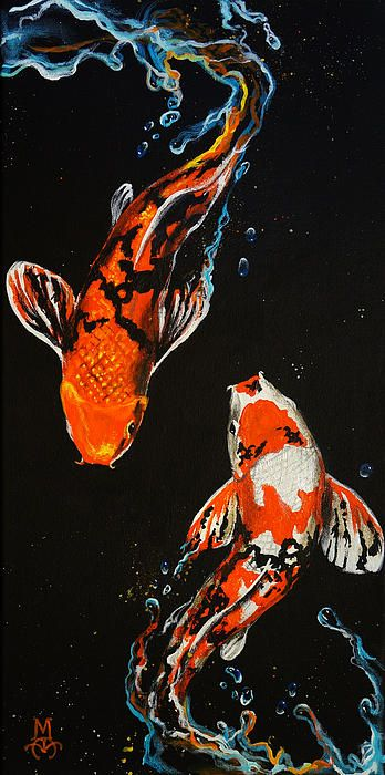 Peaceful Balance By Marco Antonio Aguilar Koi Art Fish Art Koi Painting