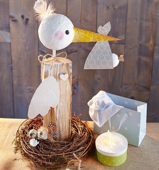 Fröhlich-bunte Brennholzfiguren | TOPP … – Baby Geschenke