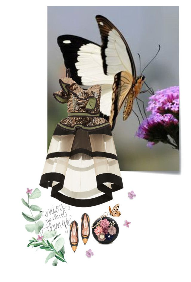 """""""Enjoy the little things"""" by iriadna ❤ liked on Polyvore featuring art and butterfly"""