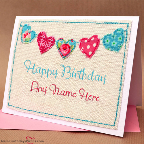 Happy Birthday Wish Cards With Name HBD Wishes – Wish Birthday Card