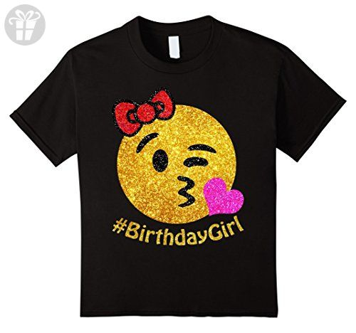 Amazon.com: Birthday Emoji T Shirt Girl Heart Kiss Shades Emoji: Clothing
