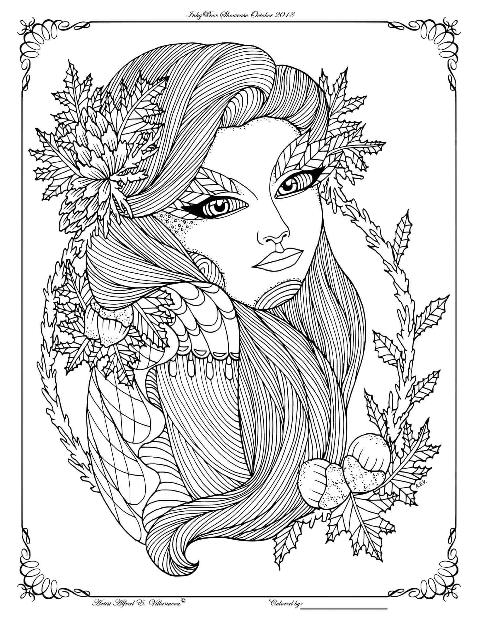 Pin On Fantasy Women Coloring Pages