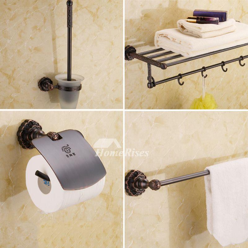 Black Oil-rubbed Bronze Luxury Bathroom Accessories Sets Bathroom