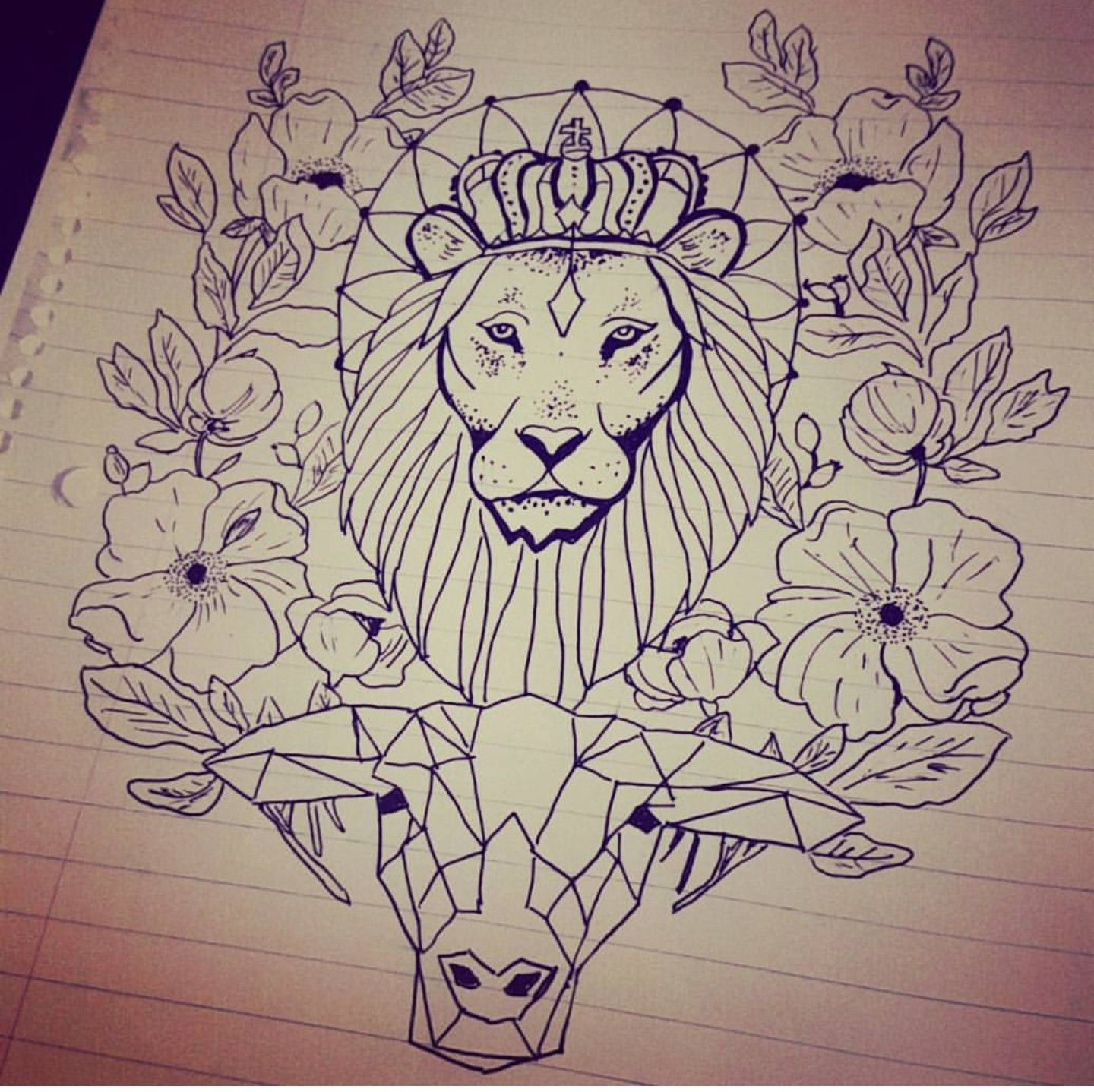 Lion and the lamb Christian tattoo sleeve idea, work in