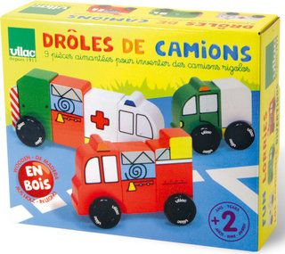 magnetic wooden cars