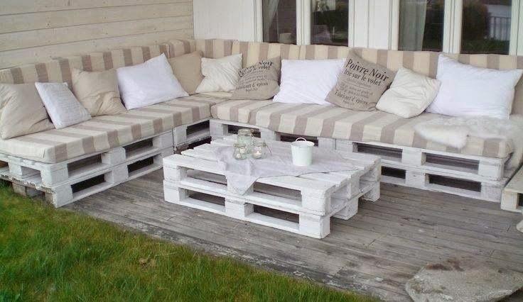 Decoracion y muebles para terraza con palets albercas - Muebles de terraza con palets ...