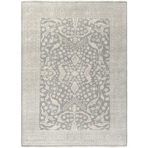 Karlee Hand-Knotted Gray/Green Area Rug