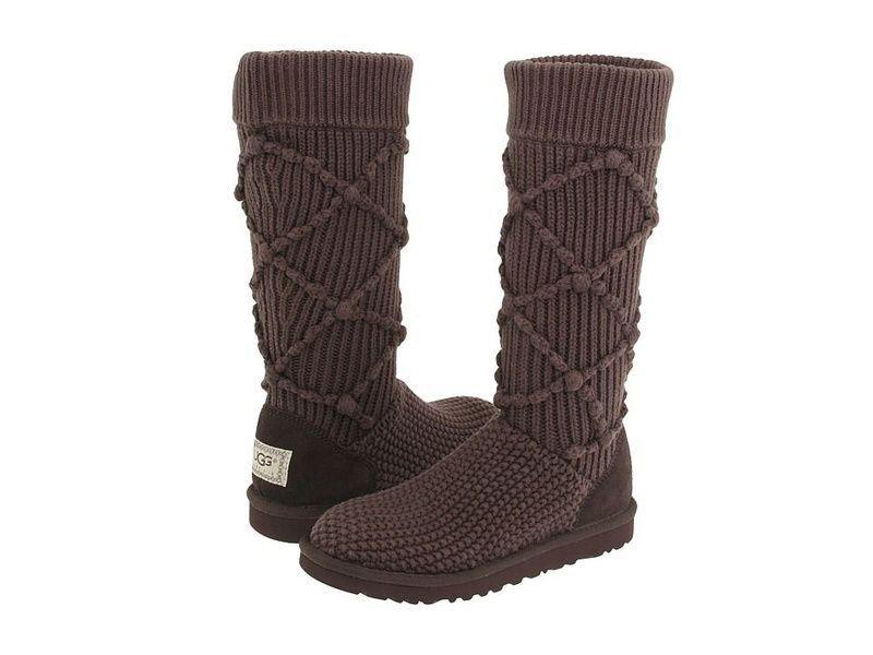 Dark Brown Argyle Knit Ugg Boots Pinatoz Boots Pinterest