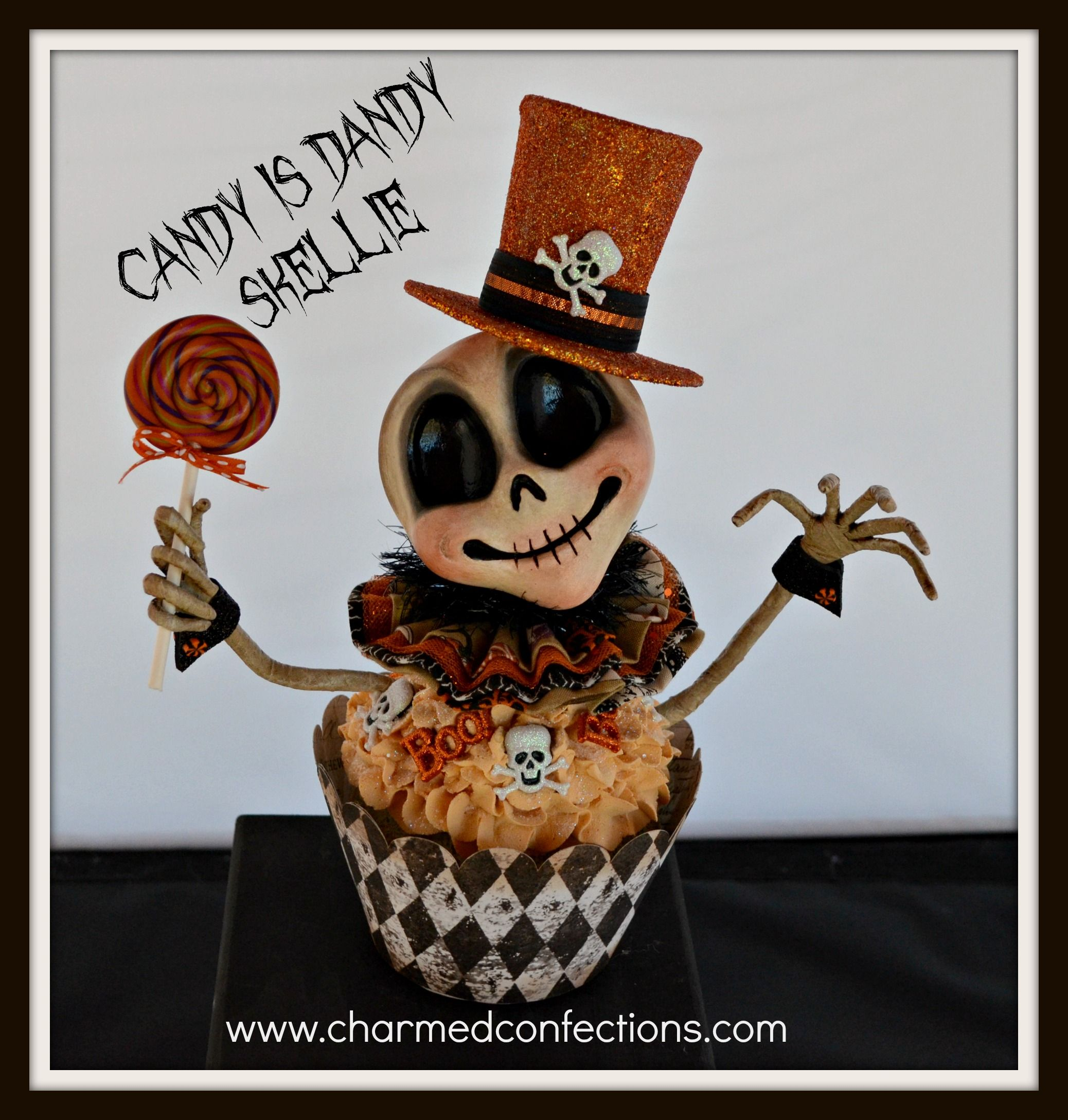 Charmed Confections Ghoulie Cake by LeeAnn Kress  www.charmedconfections.com