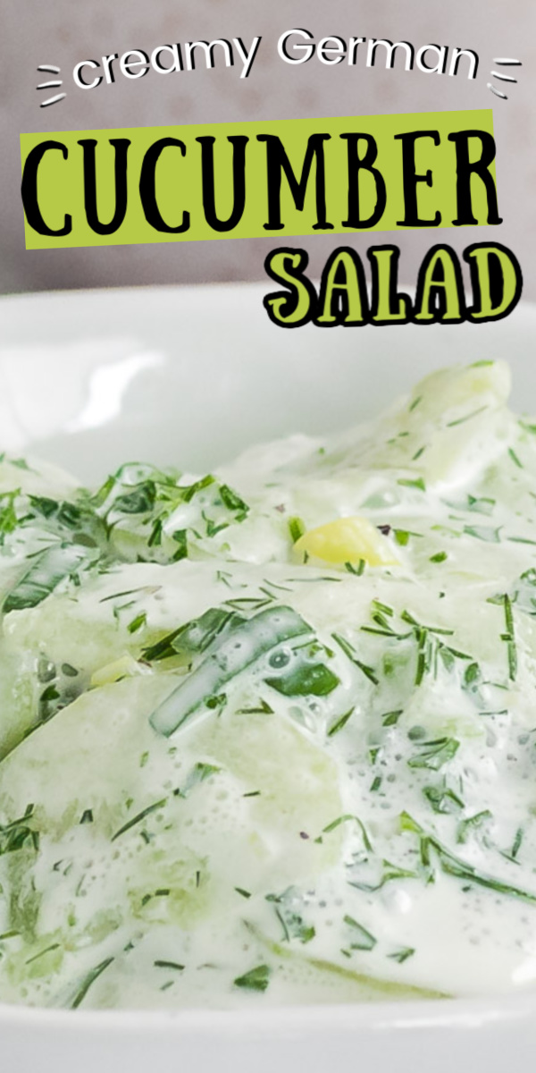 German Creamy Cucumber Salad Is Made With Crispy Cucumbers Sour Cream And Fresh Herb Dressing Perf In 2020 Cucumber Salad Creamy Cucumber Salad German Cucumber Salad