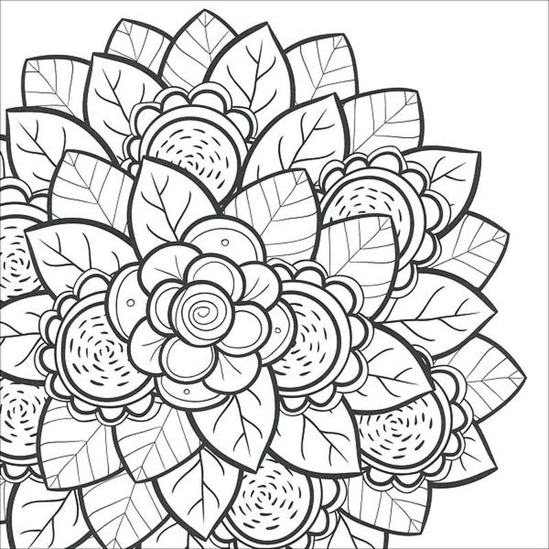 Blumen Mandala Ausmalbilder Lustige malvorlagen