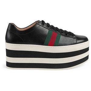 purchase cheap 827da 6f152 Gucci Leather Low-Top Platform Sneaker Compras, Tenis, Bolsos, Accesorios,  Zapatos