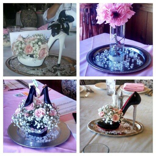 Shoe themed centerpieces
