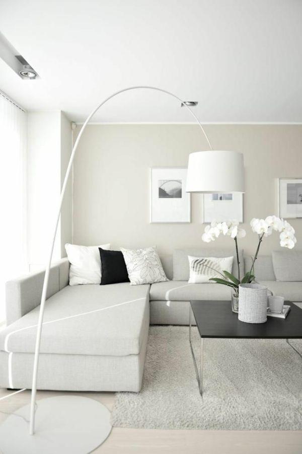 bodenlampe moderne wohnzimmergestaltung stylisch tipps Sofas - interieur design moderner wohnung urbanen stil