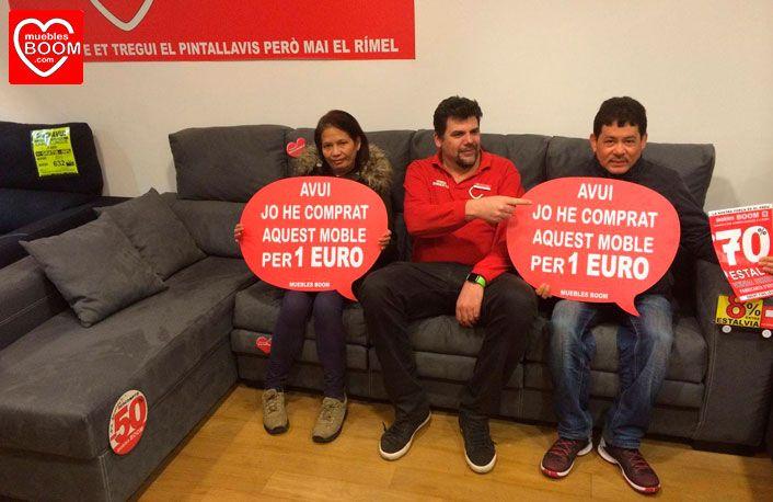 El pasado mi rcoles marina m i y renato r l se compraron por solo 1 euro este sofa - Muebles boom 1 euro ...