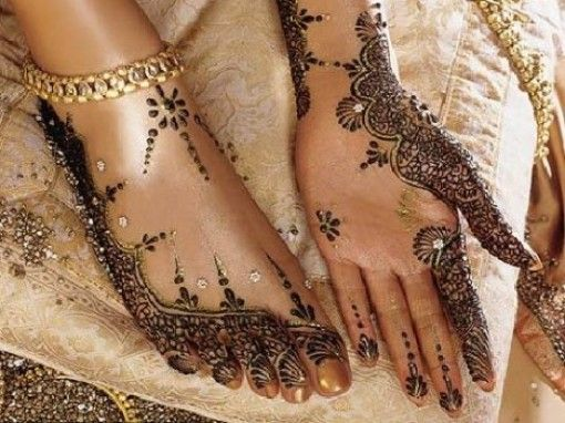 Mehndi, foot, hand, tattoo