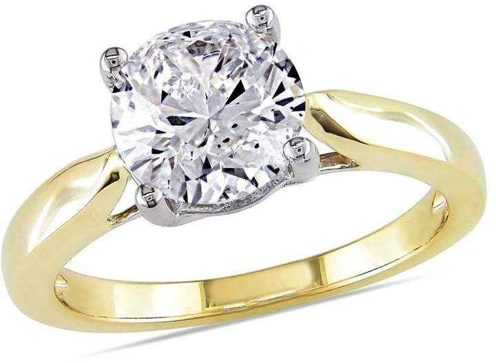 9beb9298f7d7f Amour 14 Karat Yellow Gold Diamond Solitaire Engagement Ring- Size 9 ...