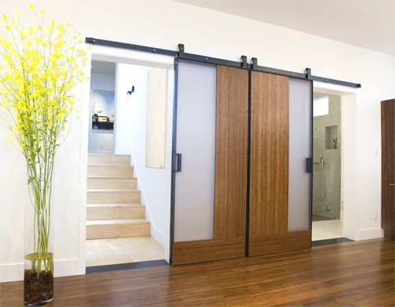 Dolores Heights Residence Barn Style Doors Bamboo Plywood Barn Doors Sliding