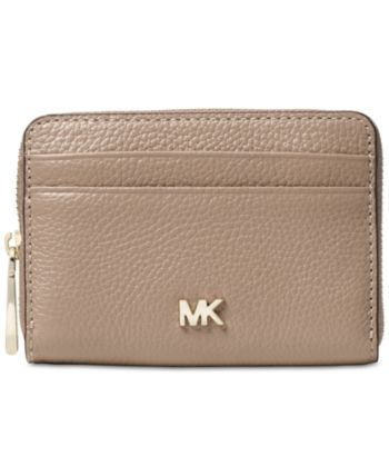 1146ad101ade28 Michael Michael Kors Pebble Leather Zip-Around Coin & Card Case - Tan/Beige