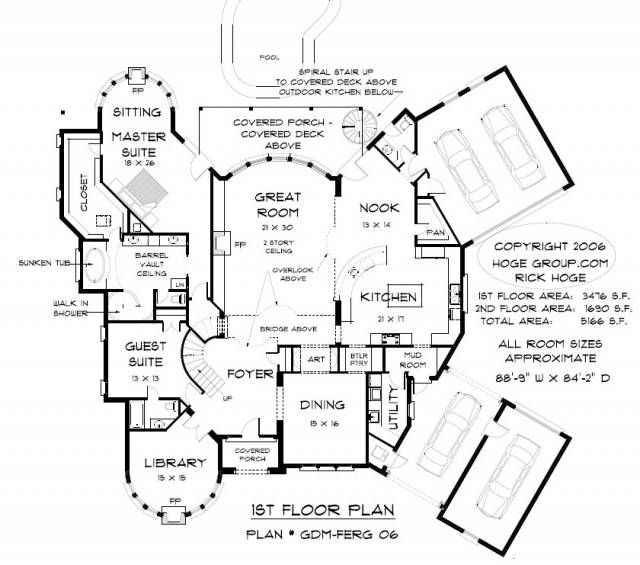 5000 Square Foot House Plans Plan Gdmferg Oklahoma
