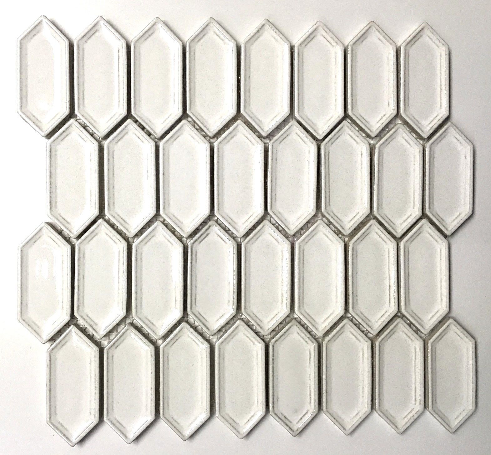 Elongated Toasted Coconut Hexagon Porcelain Mosaic Wall Tile