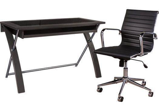 Super Patrick Black Desk And Chair In 2019 Home Decorating Ideas Download Free Architecture Designs Saprecsunscenecom