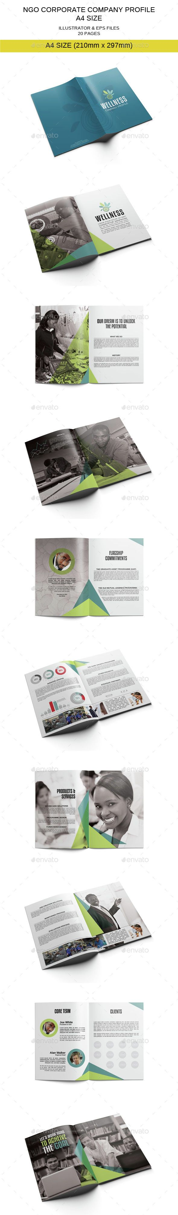 Ngo Corporate Company Profile Template Company Profile Template Company Profile Brochure Design Samples
