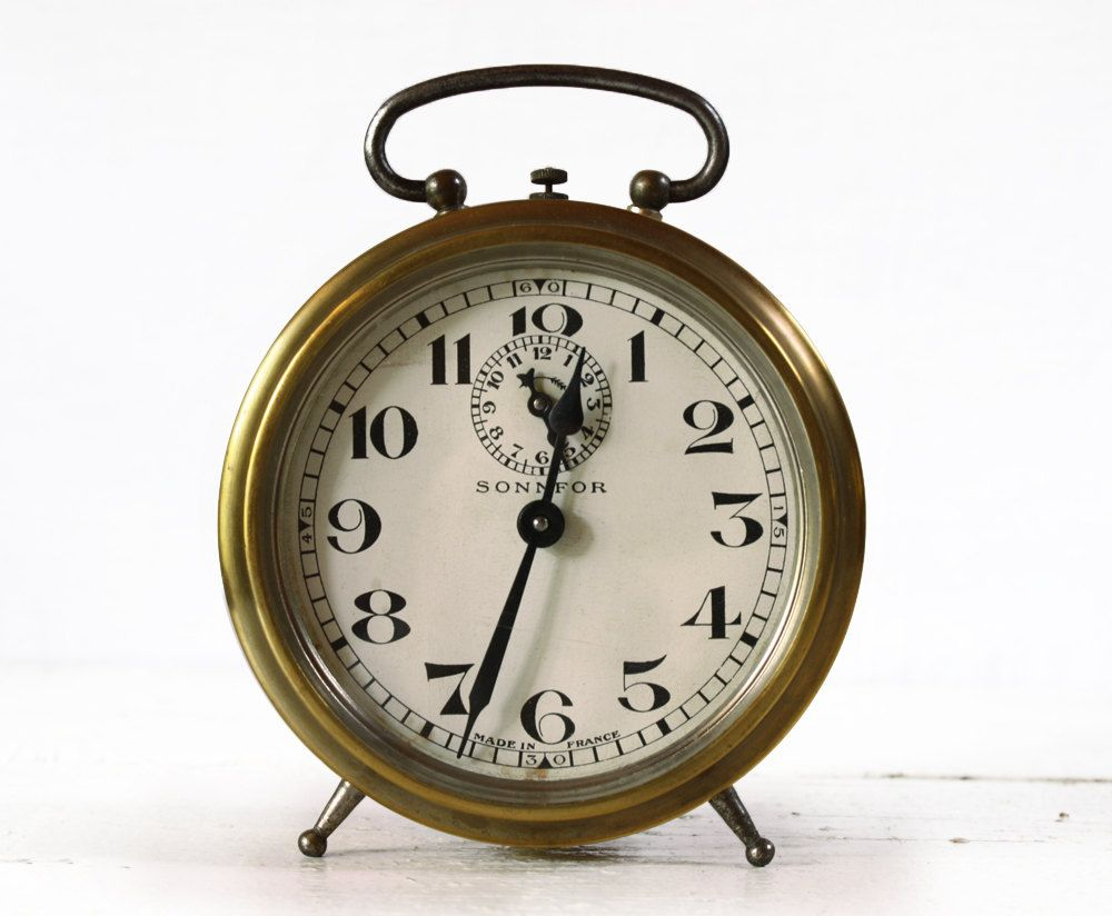 Antique French Bayard Alarm Clock Sonnfor 1930 Alarm Clock